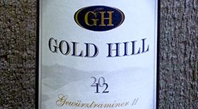 Gold Hill 2012 Gewürztraminer Label