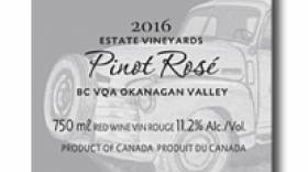 Little Straw Vineyards Estate 2016 Pinot Rosé Label