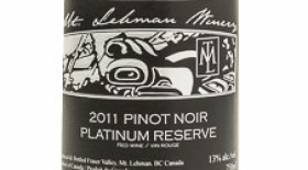 Mt. Lehman Winery 2015 Pinot Noir Platinum Reserve Label