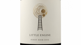 Little Engine Wines 2016 Gold Pinot Noir Label