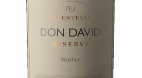 El Esteco Don David Reserve 2016 Malbec Label