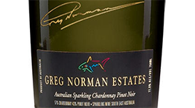 Greg Norman Estates 2009 Sparkling Wine Label