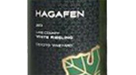 Hagafen Lake County Riesling Label