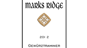 Mark's Ridge 2012 Gewürztraminer Label
