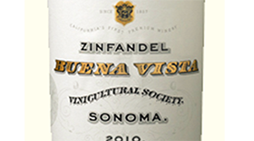 Buena Vista Winery 2012 Zinfandel Label