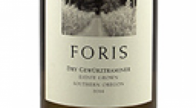 Foris Vineyards Dry Gewurztraminer 2014 Label