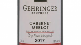 Gehringer Brothers Dry Rock Vineyards 2017 Cabernet Merlot Label