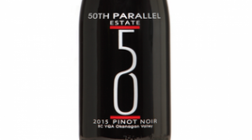 50th Parallel Estate 2015 Pinot Noir Label