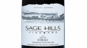 Sage Hills Organic Vineyard & Winery 2015 Syrah (Shiraz) Label