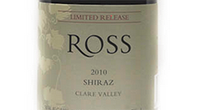 Ross Estate 2010 Syrah (Shiraz) Label
