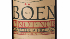 BÖEN 2016 Santa Lucia Highlands Pinot Noir Label