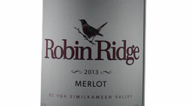 Robin Ridge Winery 2013 Merlot Label