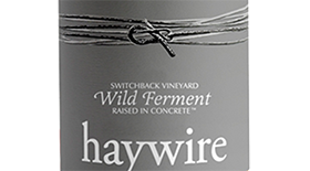Haywire Wild Ferment Pinot Gris Label