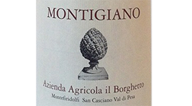 Montigiano 2010 Sangiovese | Red Wine