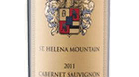 St. Helena Mountain American Oak Alain Fouquet Carved & Grooved Cabernet Sauvignon Label