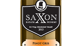 Saxon Estate Winery 2013 Pinot Gris (Grigio) Label