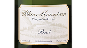 Blue Mountain Vineyard and Cellars 2012 Sparkling Wine Label