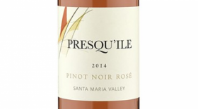 Presqu'ile Winery Pinot Noir Rosé 2015 Label
