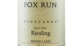 Fox Run Vineyards 2013 Riesling Label