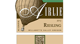 Airlie Winery 2012 Riesling Label