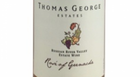 Thomas George Estates 2015 Rosé of Grenache Label