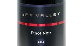 Spy Valley Wines 2011 Pinot Noir Label