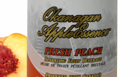 Okanagan Applessence Fresh Peach Label