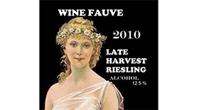 Late Harvest Riesling Label