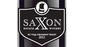 Saxon Estate Winery 2012 Pinot Noir Label