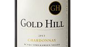 Gold Hill 2013 Chardonnay Label