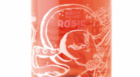 Monster Vineyards Rosie 2014 Sparkling Rosé Label