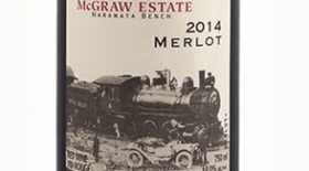 Kettle Valley Winery 2014 McGraw Estate Merlot Label