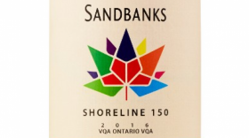 Sandbanks Winery Canada 150 Shoreline Red 2016 Label