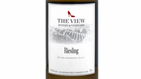 The View Winery 2015 Riesling Label