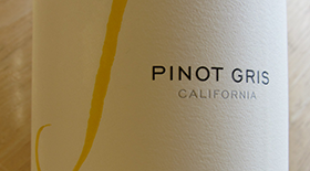 J Vineyards & Winery 2010 Pinot Gris (Grigio) Label