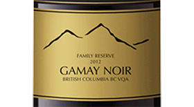 Mt. Boucherie Winery 2012 Gamay Noir Label