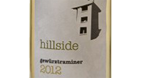 Hillside Winery & Bistro 2012 Gewürztraminer Label