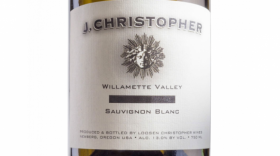 J Christopher Wines 2016 Sauvignon Blanc Label