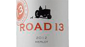 Road 13 Vineyards 2012 Merlot Label