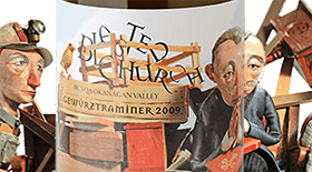 Blasted Church Vineyards 2013 Gewürztraminer Label