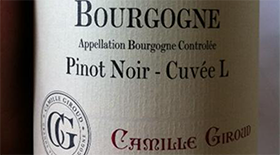 Camille Giroud 2010 Chardonnay Label