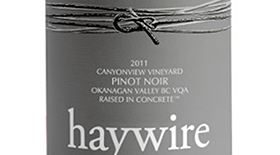 Haywire Canyonview Pinot Noir Label