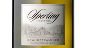 Sperling Vineyards 2010 Gewürztraminer Label