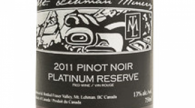 Mt. Lehman Winery 2014 Pinot Noir Platinum Reserve Label