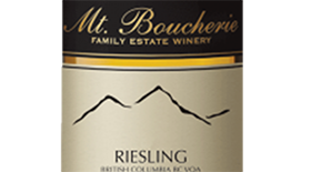 Mt. Boucherie Winery 2012 Riesling Label