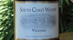 South Coast Winery 2013 Viognier Label
