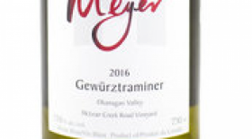 Meyer Family Vineyards 2016 Gewürztraminer | White Wine