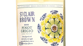 St. Clair Brown 2010 Pinot Gris (Grigio) Label