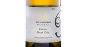 Rollingdale winery 2017 Estate Pinot Gris Label