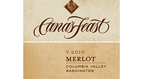 Cana's Feast 2010 Merlot Label